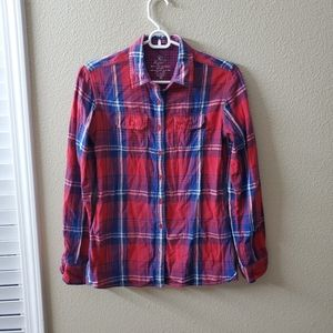 Kuhl Plaid Button Down Long Sleeve Shirt Size XS